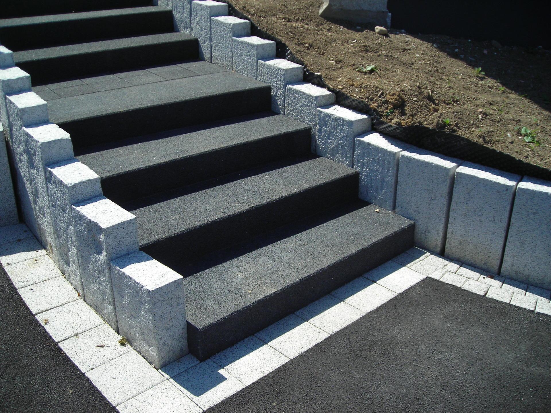 Escaliers Haut-Rhin : Béton, Pierre, Composite, Métallique avec Nez De Marche Extérieur En Pierre