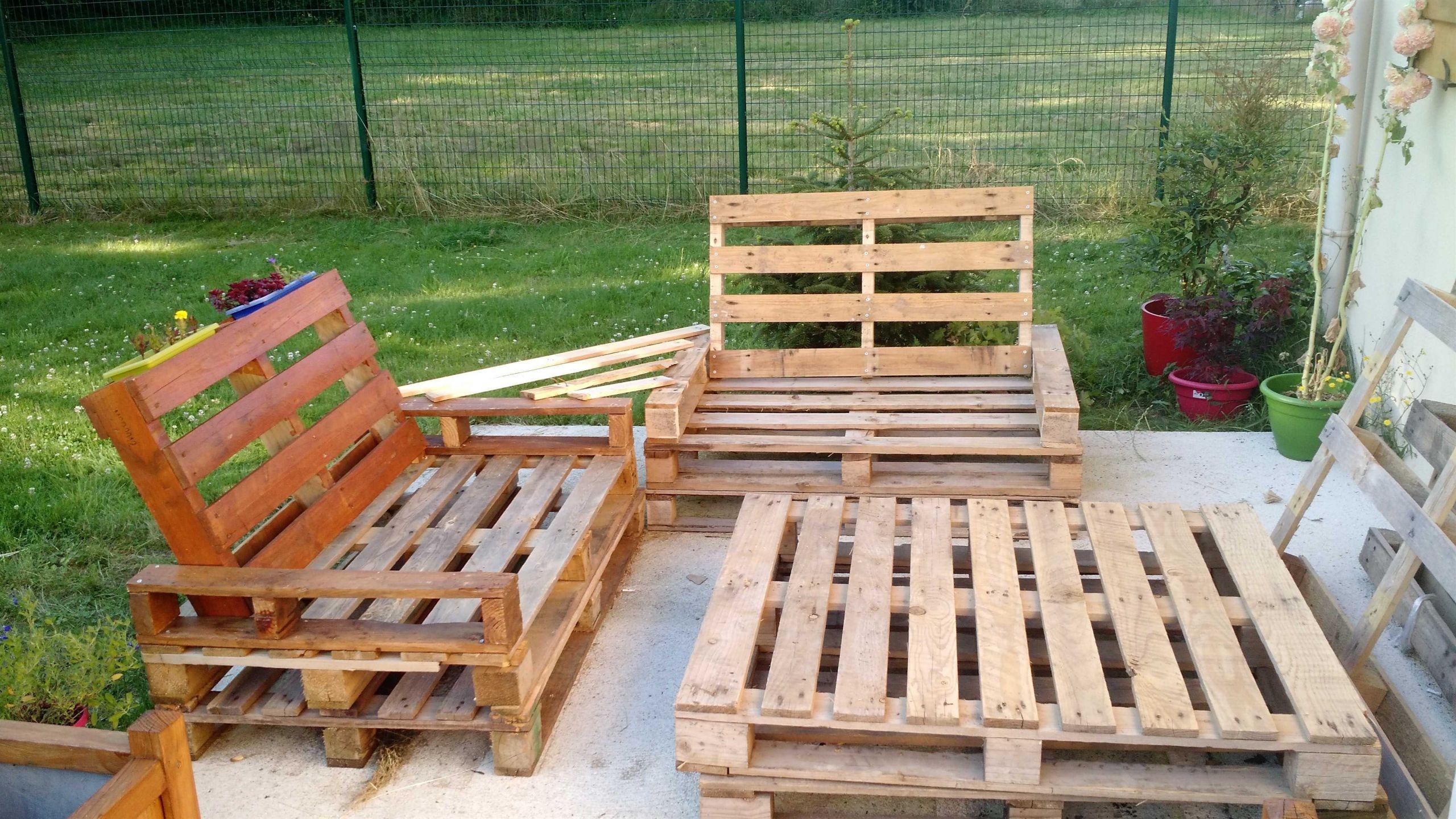 Fabriquer Salon De Jardin Fabriquer Un Meuble Avec Des à Fabriquer