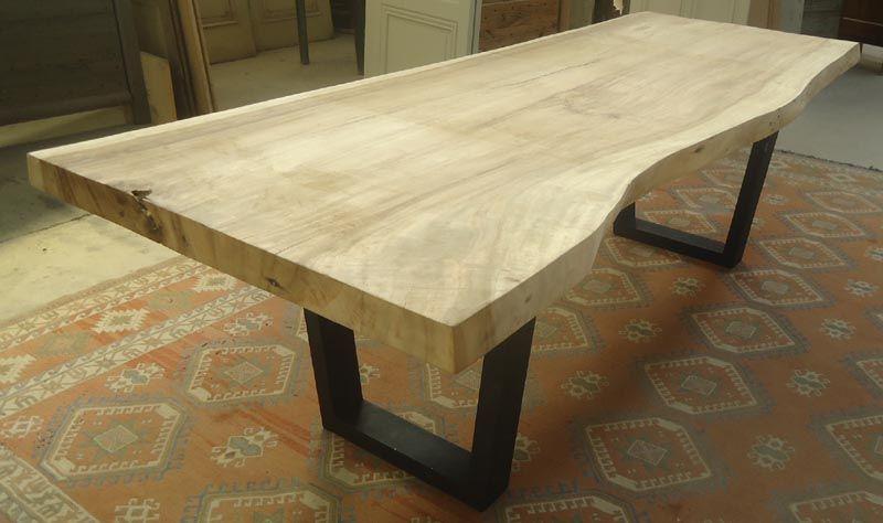 Fabriquer Table En Bois   Idées Décoration - Idées Décoration tout Fabriquer Sa Table De Jardin