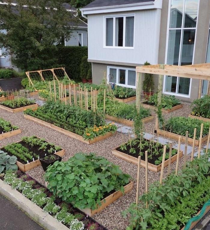 Fabriquer Une Jardinière Ou Potager En Palette – Une serapportantà Aménagement Potager Idées