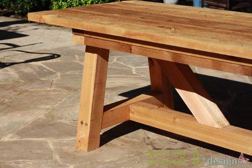 Fabriquer Une Table En Bois Exterieur – Rayon Braquage à Fabriquer Sa Table De Jardin