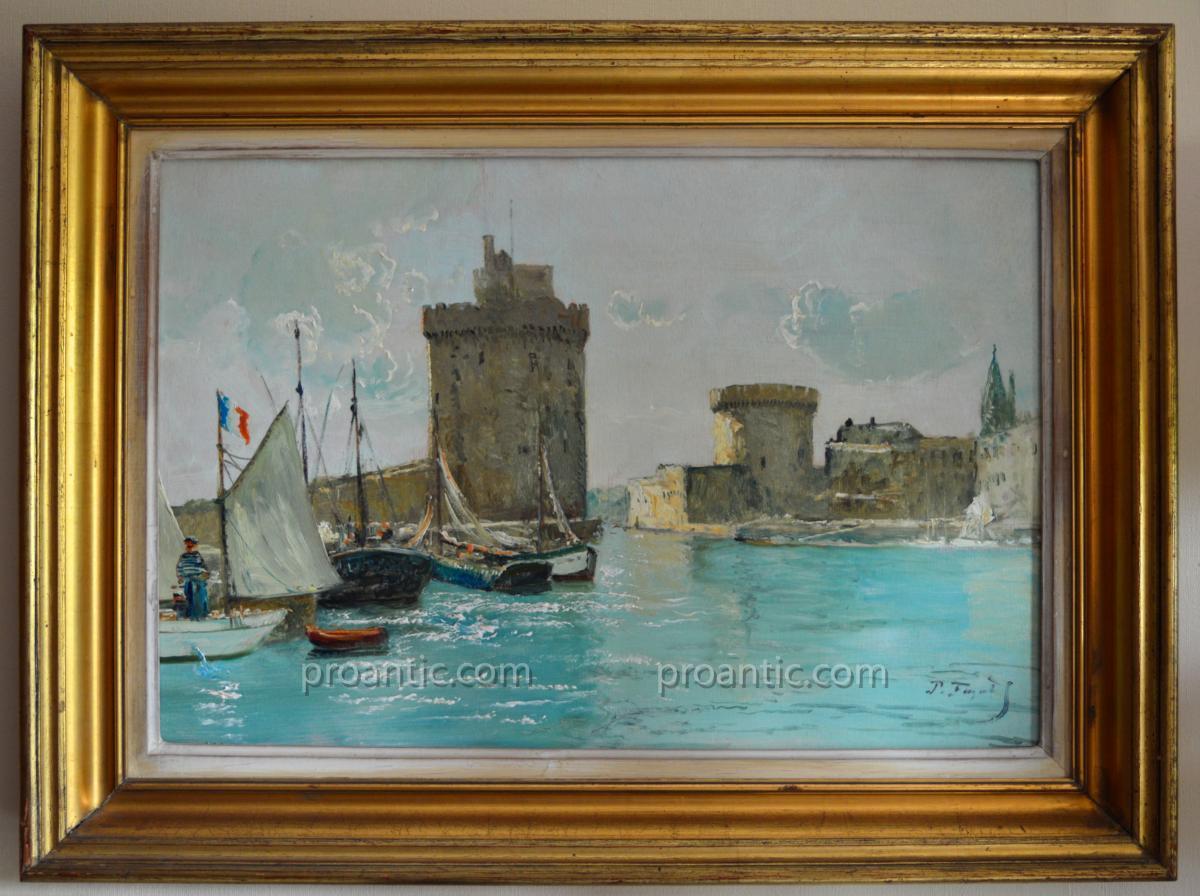 """Faget Germain Pierre (1890-1961) """"boats Of Fishermen In The destiné Germain Larochelle"""