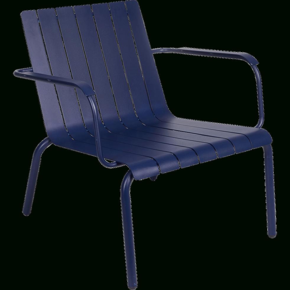 Fauteuil De Jardin Aluminium Bleu Indigo - Alinéa dedans Alinea Fauteuil Jardin