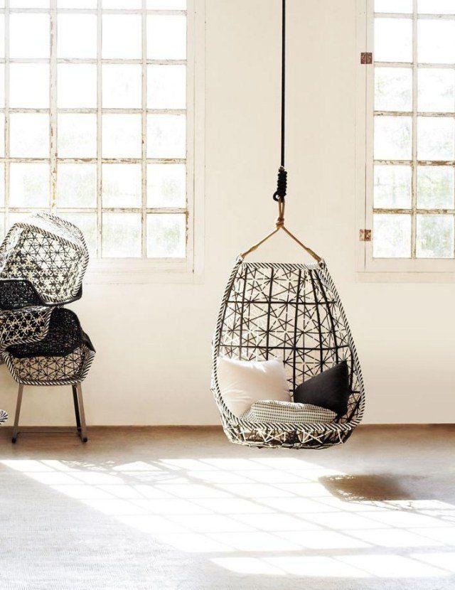 Fauteuil De Jardin Suspendu En 55 Idées De Meubles Design encequiconcerne Chaise Suspendue Jardin