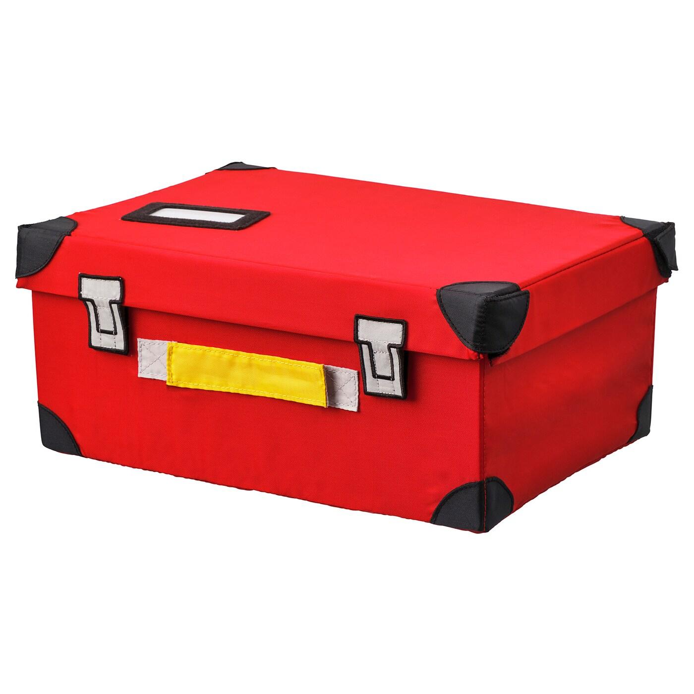 Flyttbar Coffre À Jouets, Rouge, 35X25X15 Cm - Ikea avec Coffre Jardin Ikea
