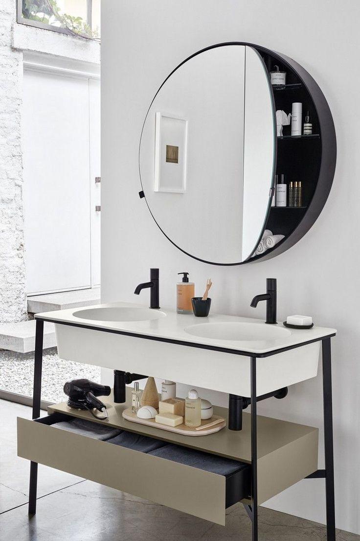 Freistehender Waschtisch – Praktische Und Stilvolle destiné Mirroir Salle De Bain