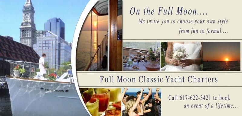 Full Moon Classic Boat Charters. Catering / Wedding Book tout Fullmoon Charter