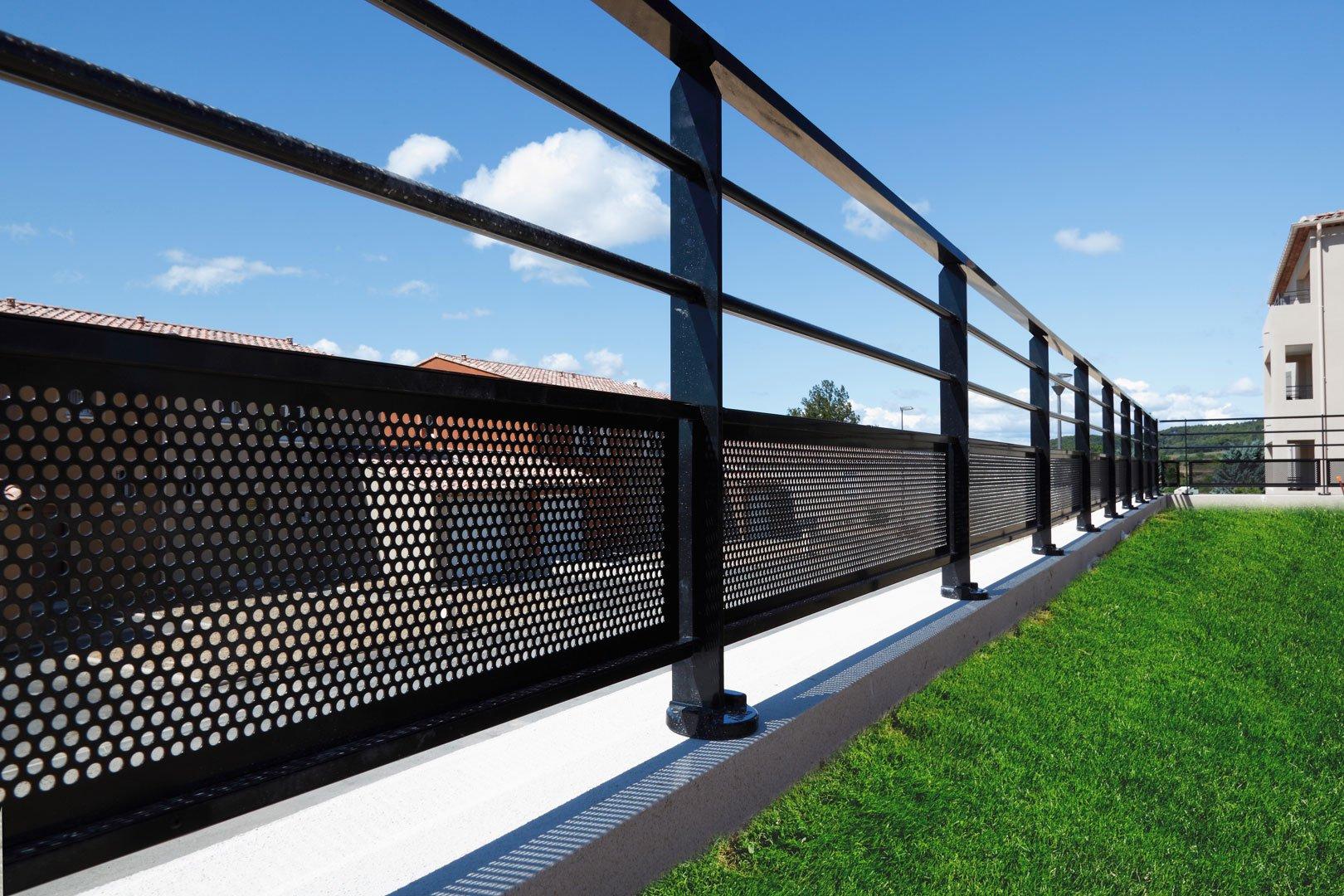 Garde-Corps En Aluminium Pour Balcon Et Toiture-Terrasse avec Toiture Terrasse Accessible