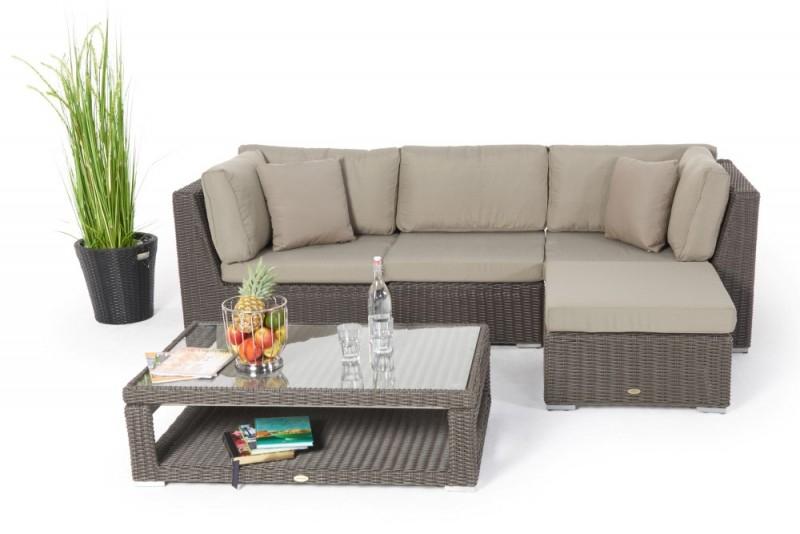 Gartenmöbel - Rattanmöbel - Estelle Rattan Lounge Round Braun tout Mobel Braun