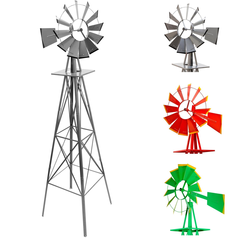 Gigantesque Us Éolienne 245Cm, Argent Rouge Vert, À Billes encequiconcerne Eolienne De Jardin