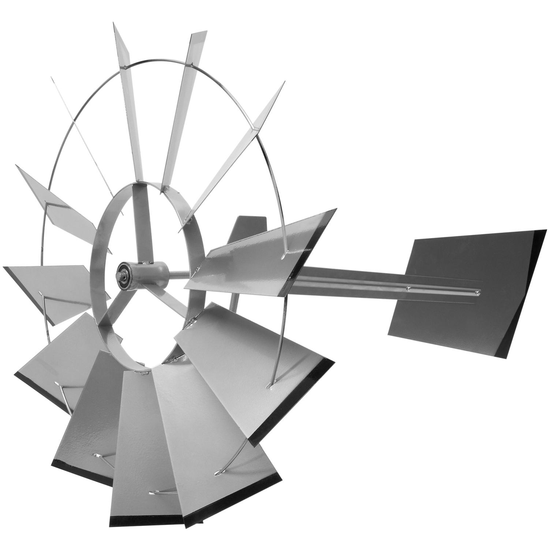 Gigantesque Us Éolienne 245Cm,Argent Rouge Vert,Roulements tout Eolienne De Jardin