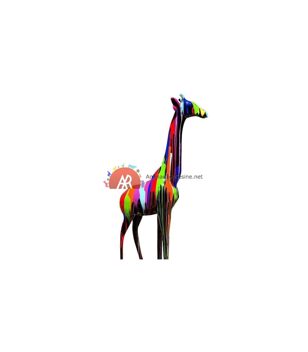 Girafe Decorative Grand Modèle En Résine Trash intérieur Nain De Jardin Fuck