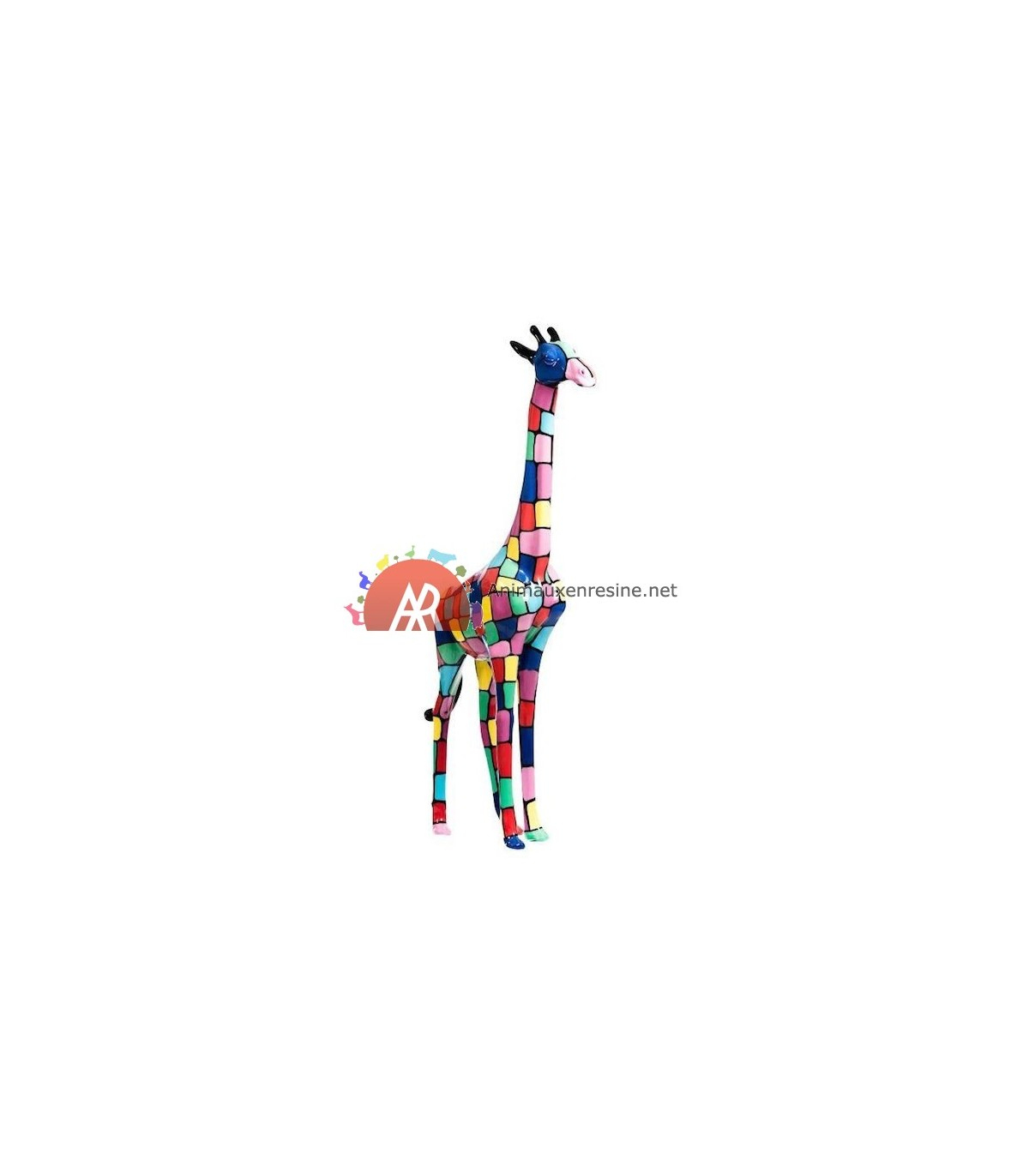 Girafe Resine Deco Moyen Modèle Smarties 205Cm avec Nain De Jardin Fuck