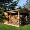 Gloriette & Bûcher Ossature Bois - Lignes Bois Constructions pour Abri De Jardin Avec Bucher
