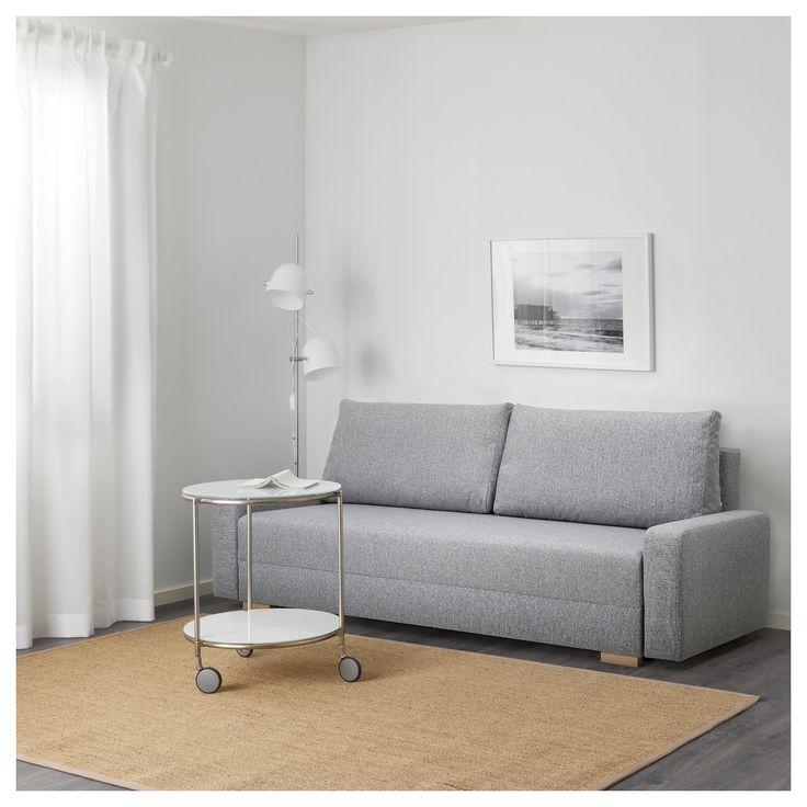 Grälviken Rozkładana Sofa 3-Osobowa, Szary | Chata destiné Gralviken