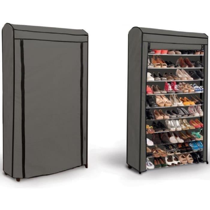 Grand Meuble Chaussures 50 Paires | Idées De Décoration intérieur Grand Meuble Chaussure