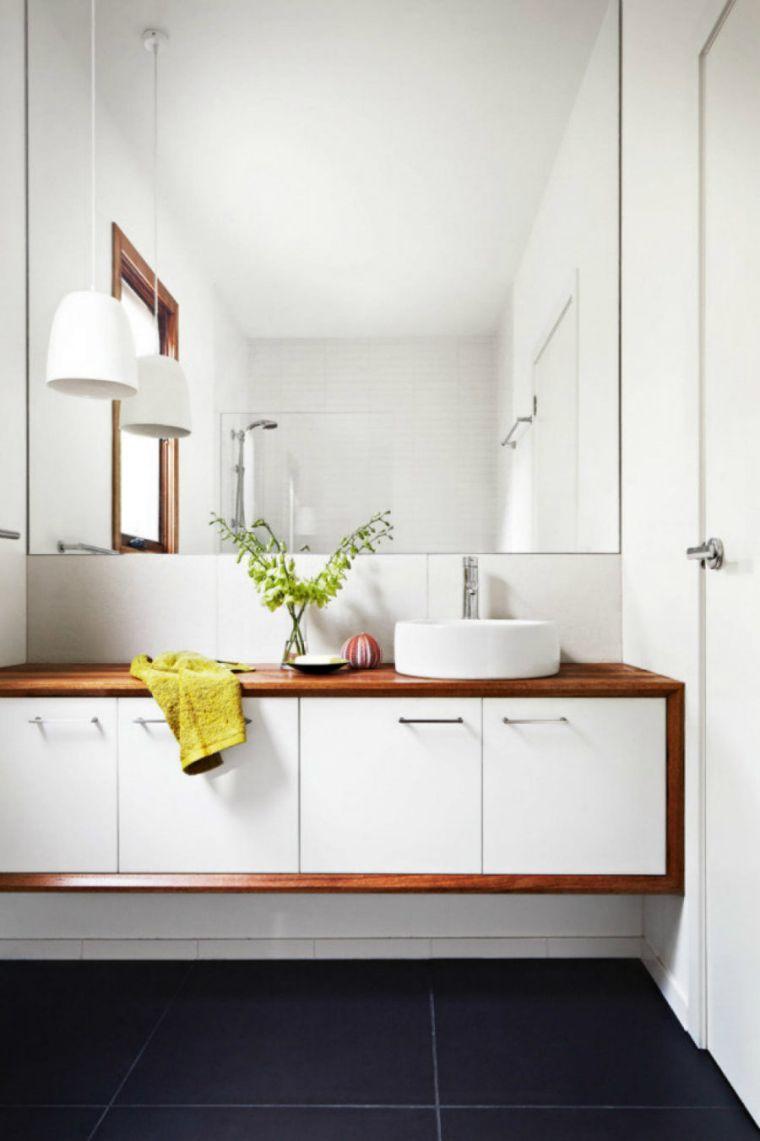 Grand Miroir Contemporain, Un Must Pour La Salle De Bain concernant Miroir Salle De Bain