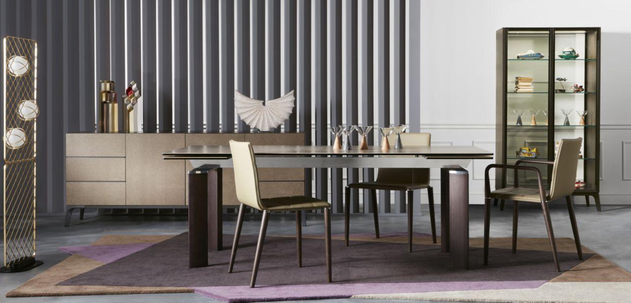 Grande Table De Repas Roche Bobois Chrono Wood - Meuble Et avec Table Salle À Manger Roche Bobois