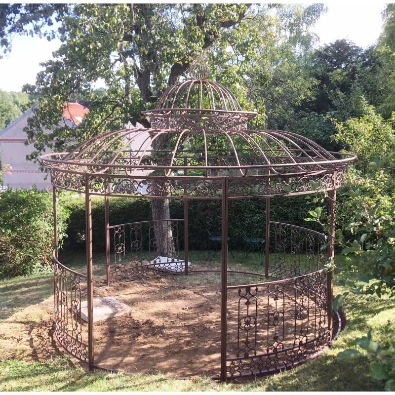 Grande Tonnelle Kiosque De Jardin Pergola Abris Rond à Décoration Jardin Fer Forgé
