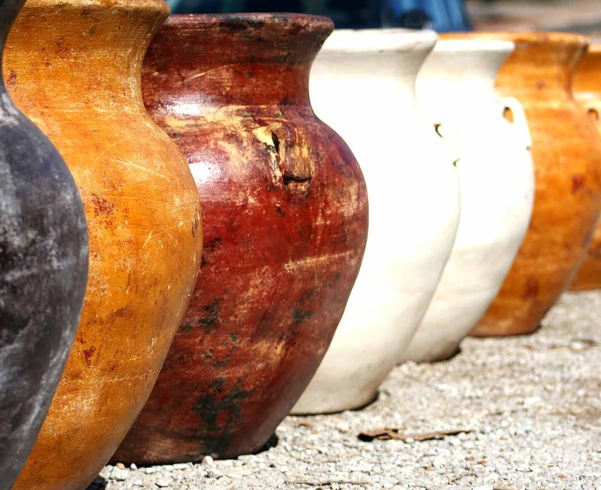 Grands Pots En Terre Cuite Décoration Extérieure, Poterie pour Jarre De Jardin