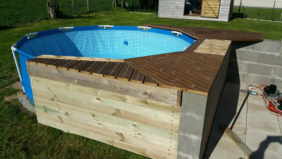 Habillage Piscine Autoporté Intex | Piscines Plages serapportantà Kit Habillage Piscine Intex