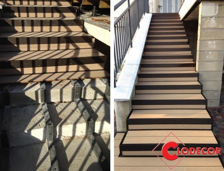 Habiller Un Escalier En Lame Composite – Gamboahinestrosa intérieur Lameo Xtra