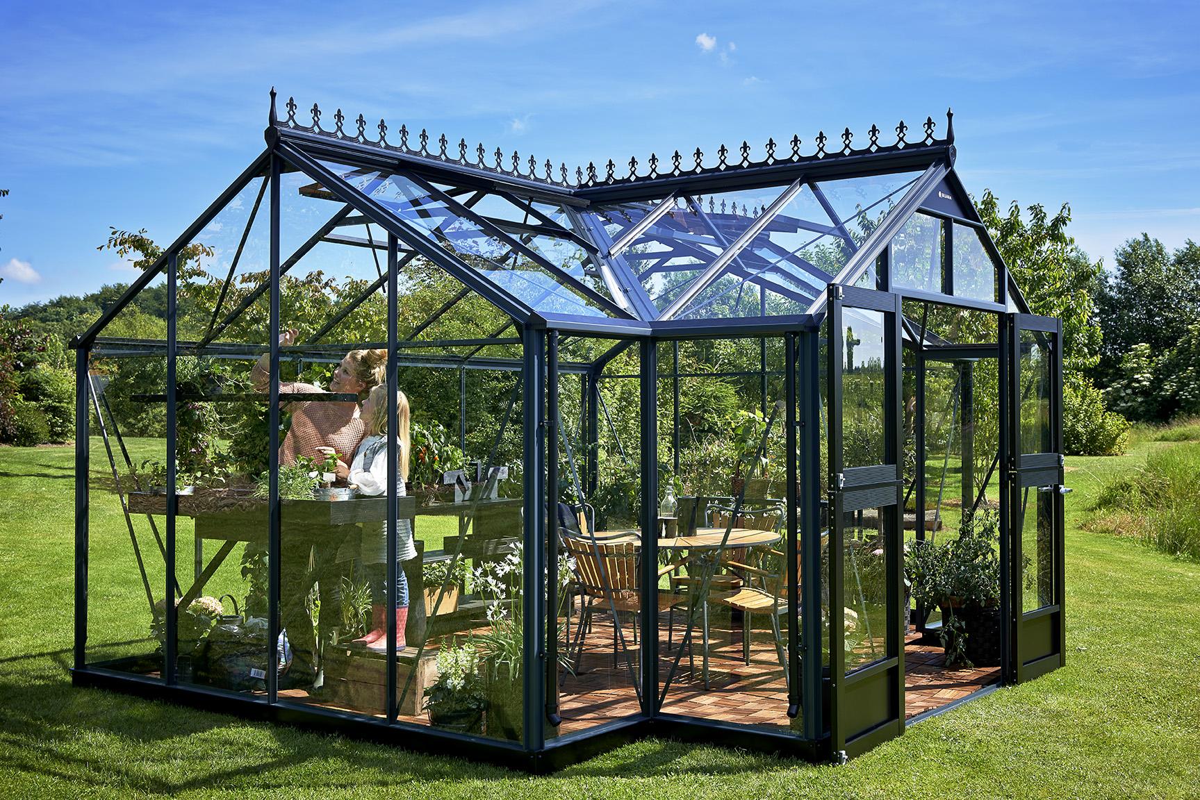 Halls:la Maison Du Jardin Dim. 296 X 439 X 267 Cm Serre De intérieur Serre De Jardin Jardiland