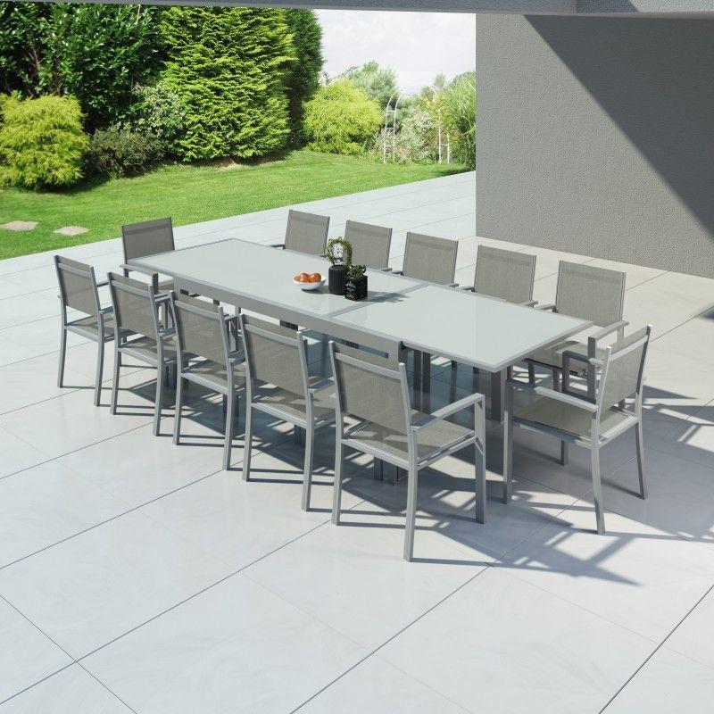 Hara Xxl - Table De Jardin Extensible Aluminium 200/320Cm dedans Table De Jardin Aluminium Jardiland