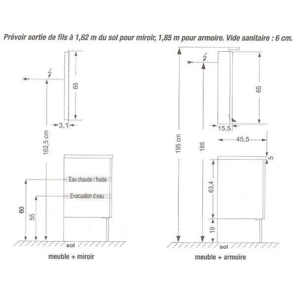 Hauteur Standard Meuble Salle De Bain Suspendu 77 Concept pour Hauteur Standard Meuble Salle De Bain