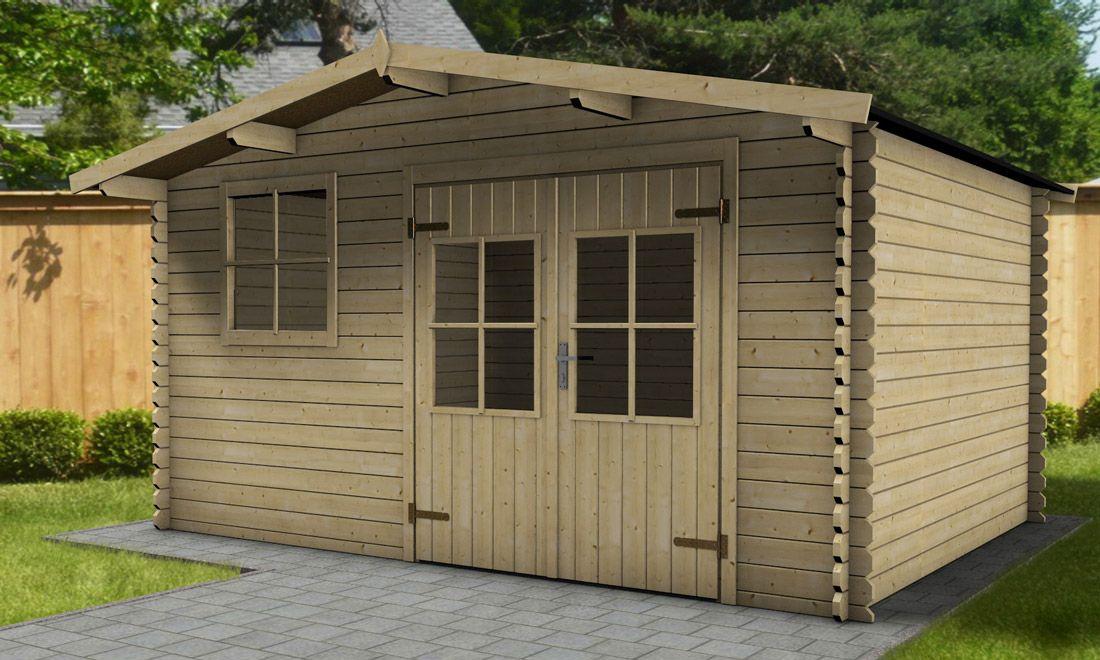 Holz-Gartenhaus Kiwi B 420 X T 330 Cm, 28 Mm | Gartenhaus pour Abris De Jardin