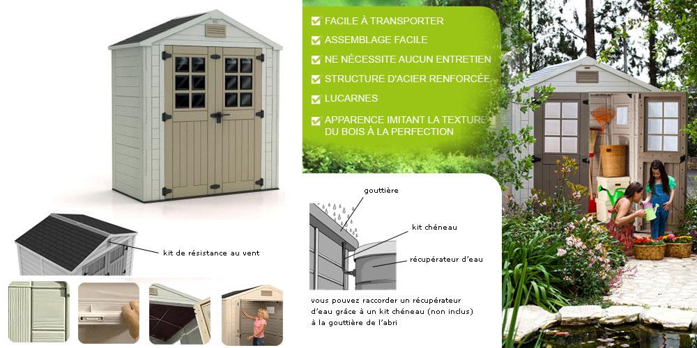 Horizon 73 Keter - Tout Le Matériel Pour Son Jardin tout Abri De Jardin Keter Factor 86 Leroy Merlin