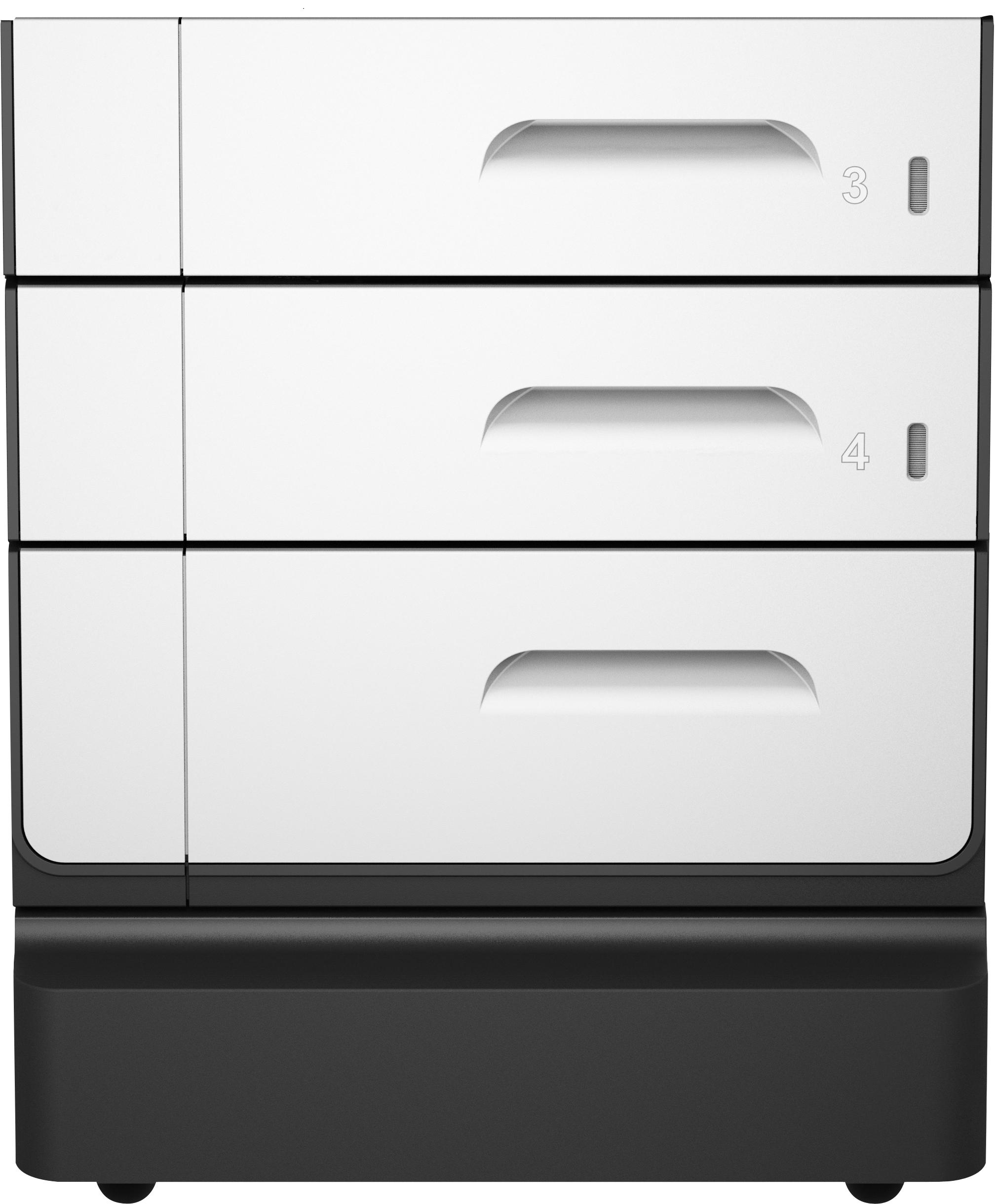 Hp Socle Et Bac À Papier Pagewide Pro 2X500-Sheet Meuble D'imprimante - Noir encequiconcerne Meuble A Papier