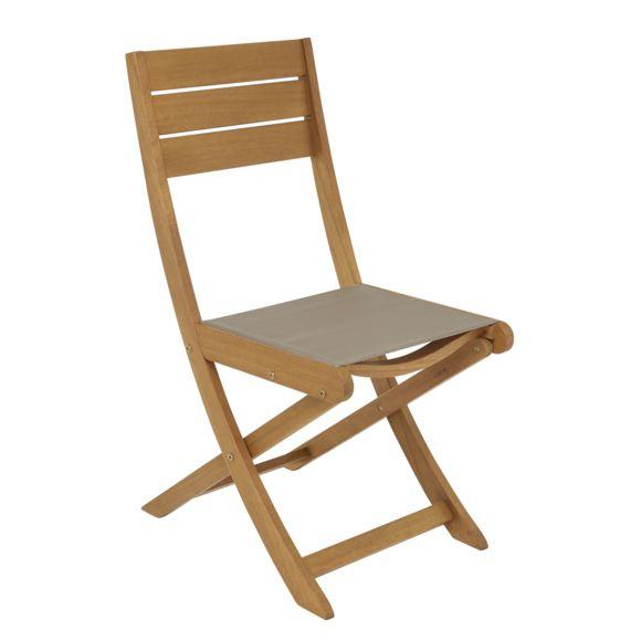 Hyba - Chaise De Jardin Pliante Melo - Bois - Marron - Pas intérieur Chaise De Jardin Pliante Pas Cher