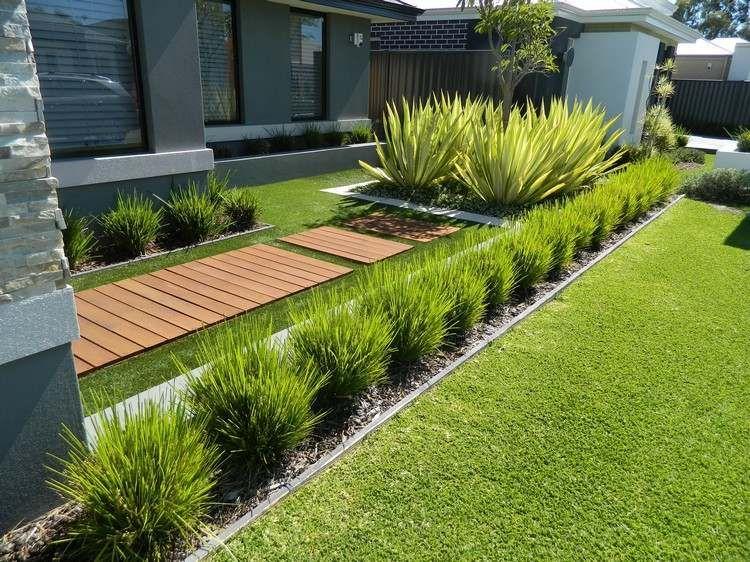 Idées Jardins Modernes - Top 20 Des Tendances Récupérées dedans Parterre Devant Maison Moderne