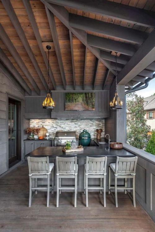 Idées Pour Cuisine Extérieure – À La Terrasse Ou Dans Le avec Idées Terrasses Extérieures