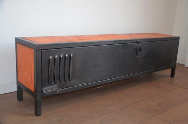 Industrial Wood & Metal Tv Stand / Meuble Tv Bois Et Métal pour Meuble Tv Métallique