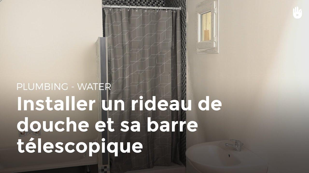Installer Un Rideau De Douche Et Sa Barre Télescopique   Bricolage avec Leroy Merlin Rideau De Douche