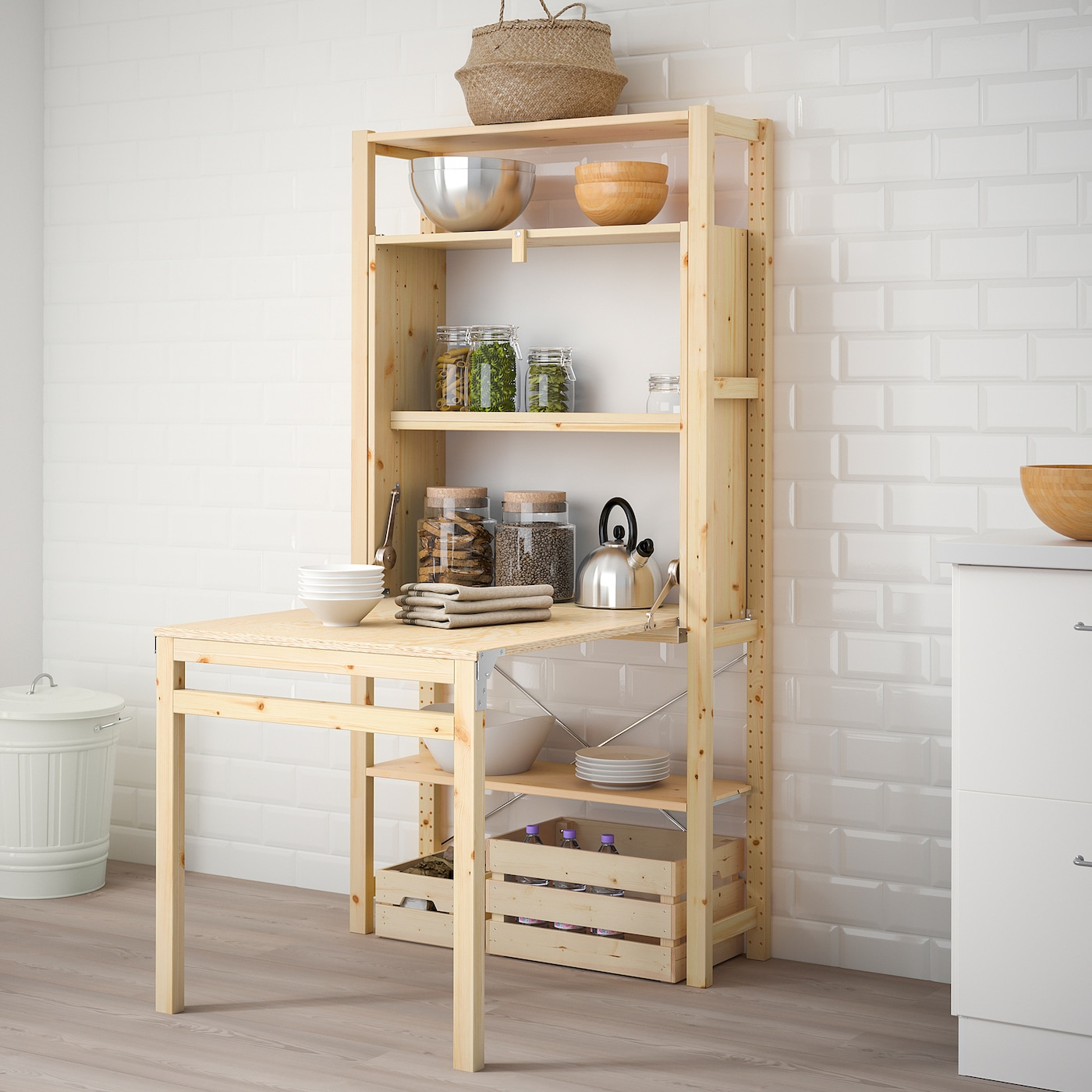Ivar 1 Section/rgt Av Table Pliante 89X30-104X179 Cm destiné Table Salle A Manger Pliante Ikea