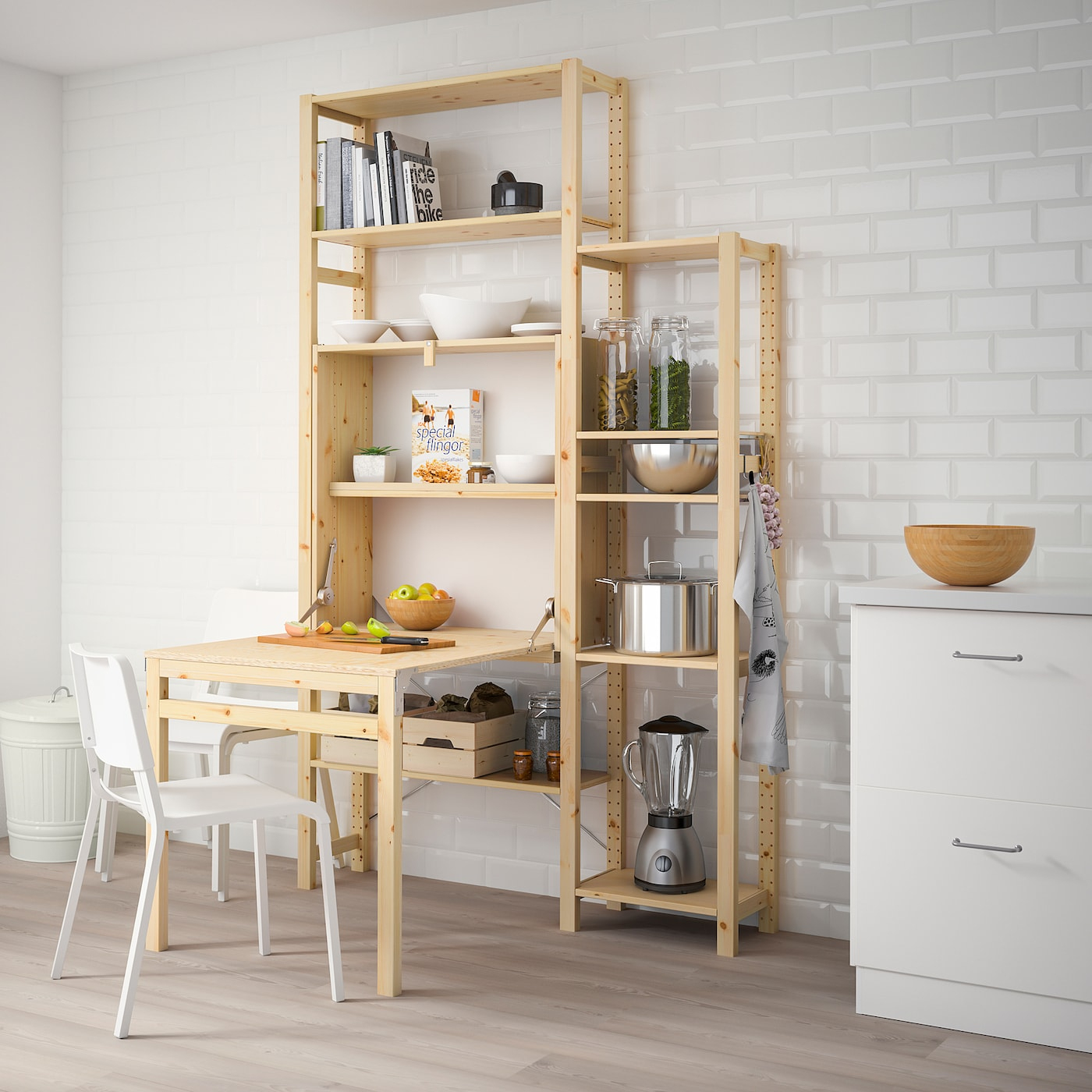 Ivar 2 Sections/rgt Av Table Pliante 134X30-104X226 Cm destiné Table Salle A Manger Pliante Ikea