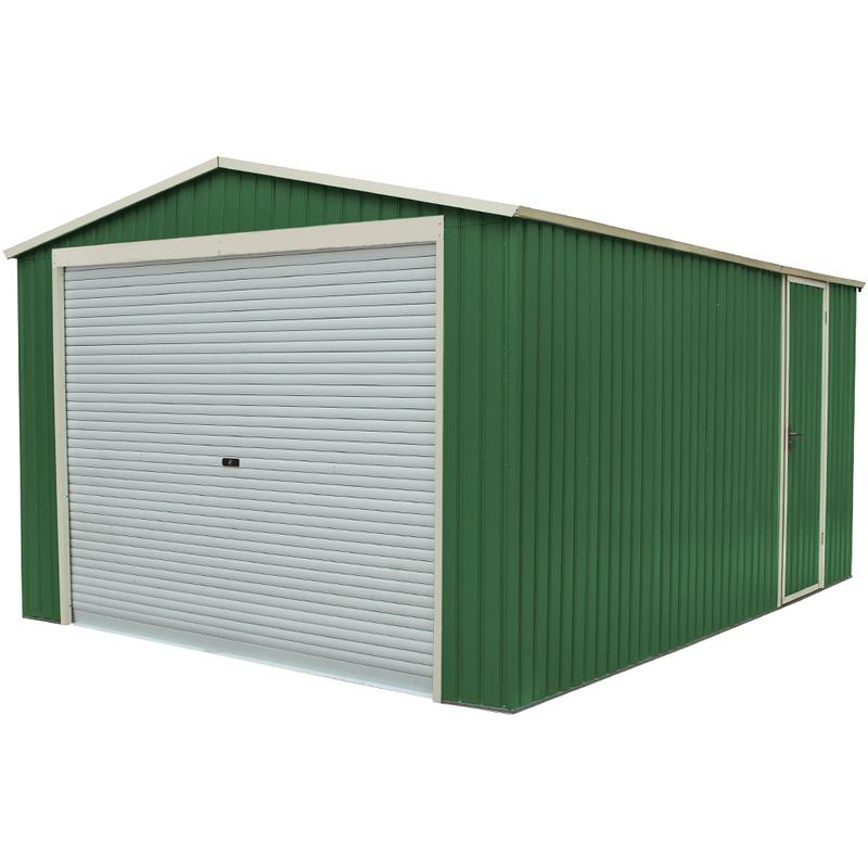 Jardin ᐅ Habit Box Abri Garage En Tôle Galvanisée Jardin encequiconcerne Abri De Jardin En Tole