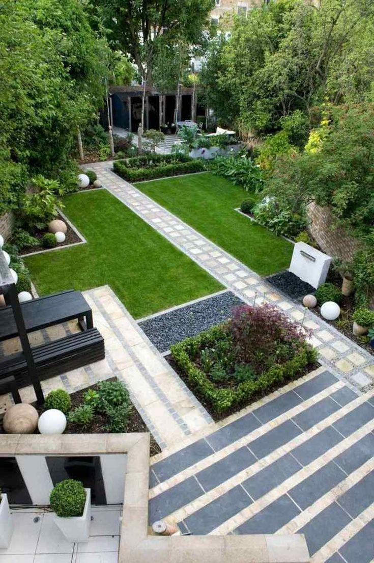 Jardin Moderne Avec Galet Parterre Gravier Simple Modele tout Parterre Extérieur Moderne