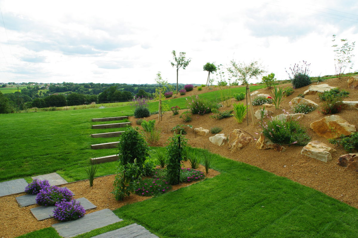 Jardin Moderne Et Fonctionnel, Manche | Paysages Conseil dedans Jardin Moderne