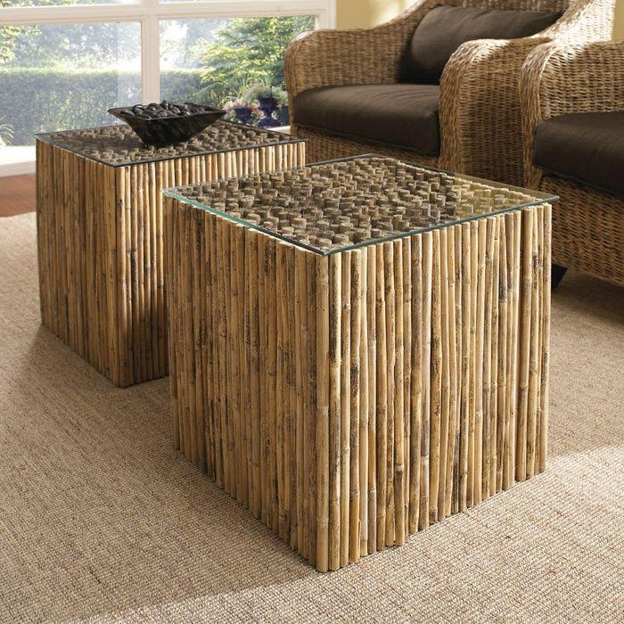 Jolies Variantes Pas Cher Pour Un Meuble En Bambou destiné Déco Jardin Bambou