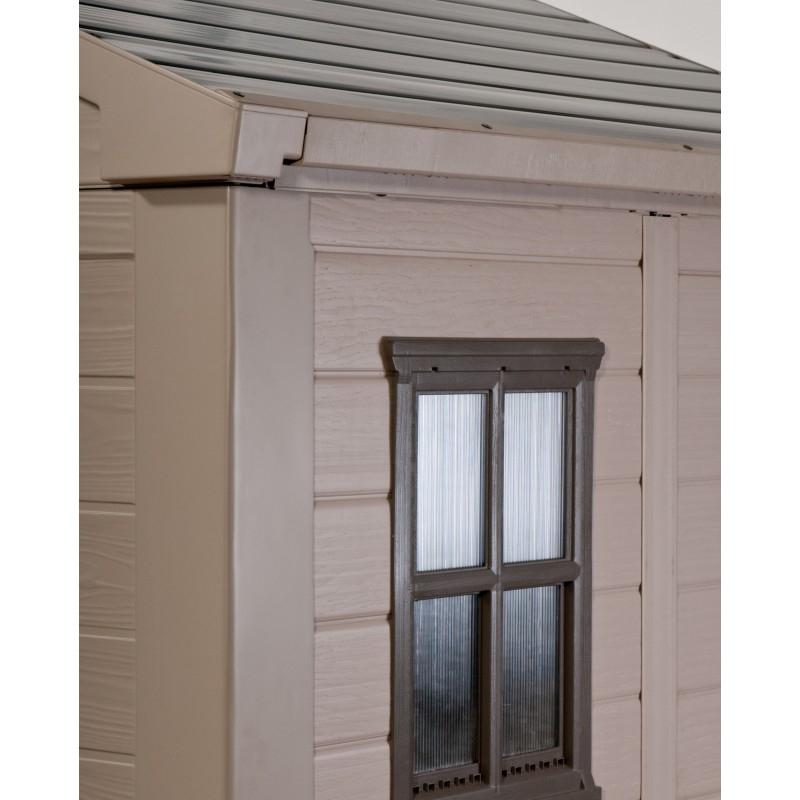 Keter Abri De Jardin En Résine Sydney 4,41M² + Plancher Inclus encequiconcerne Abri De Jardin En Résine Sydney 4,41M² + Plancher Keter