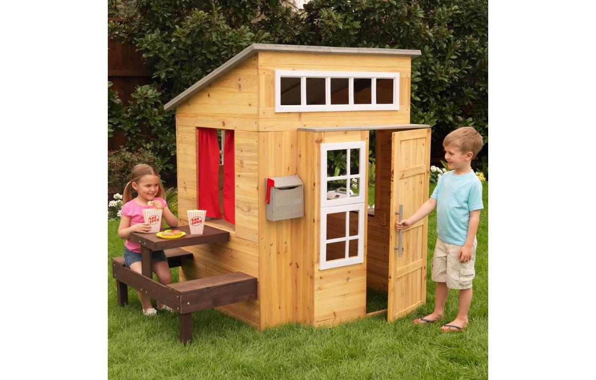 Kidkraft Cabane Pour Enfants D'Extérieur Moderne 00182 concernant Maison De Jardin Enfant