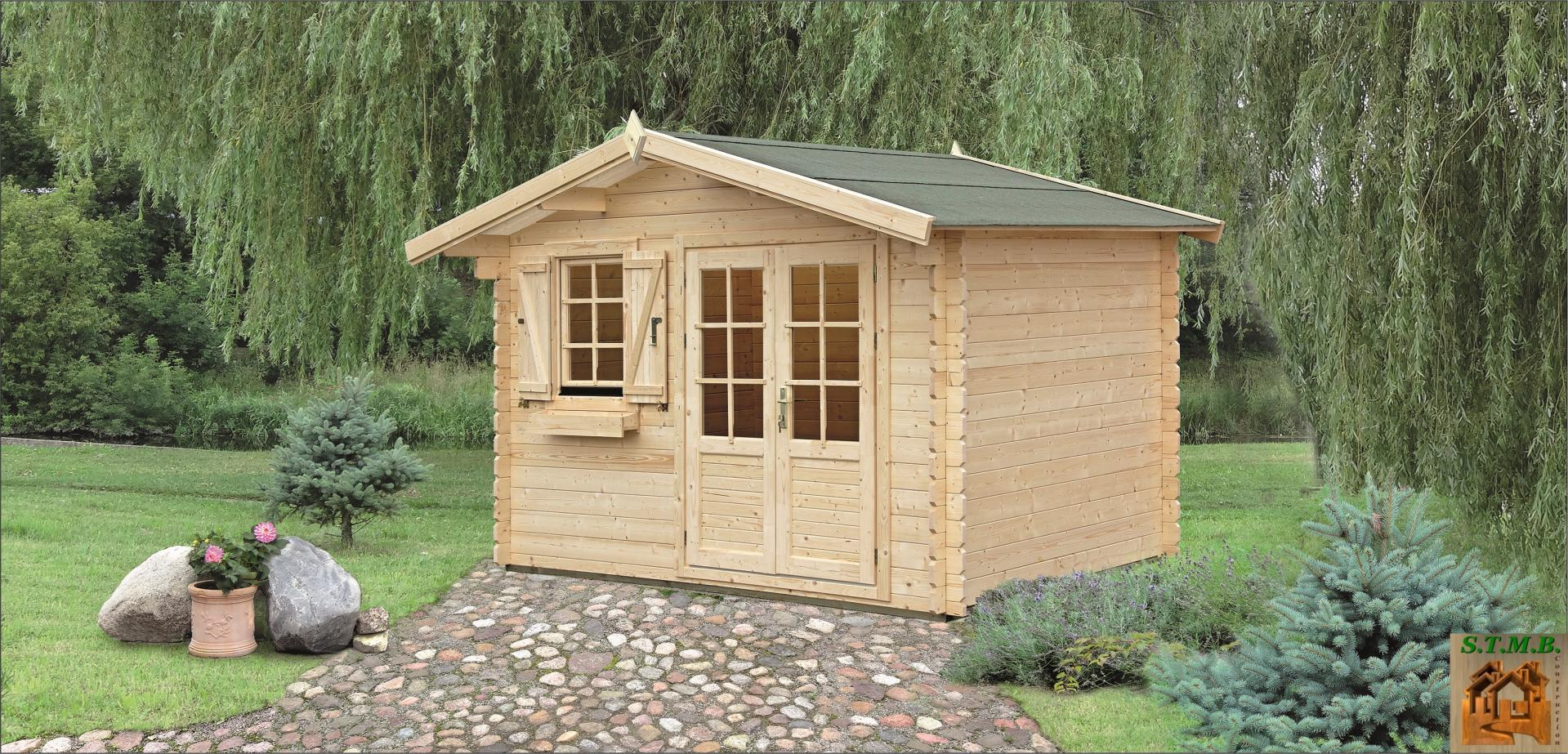 Kit Chalet Bois De Jardin 14 M² Sans Permis De Construire encequiconcerne Petit Cabanon De Jardin