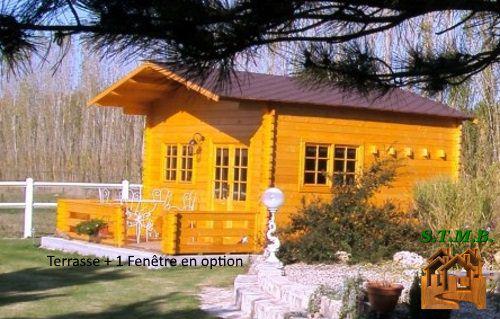 Kit Chalet Bois Sans Permis De Construire 20 M2 Avec Mezzanine dedans Chalet 20M2 Avec Mezzanine