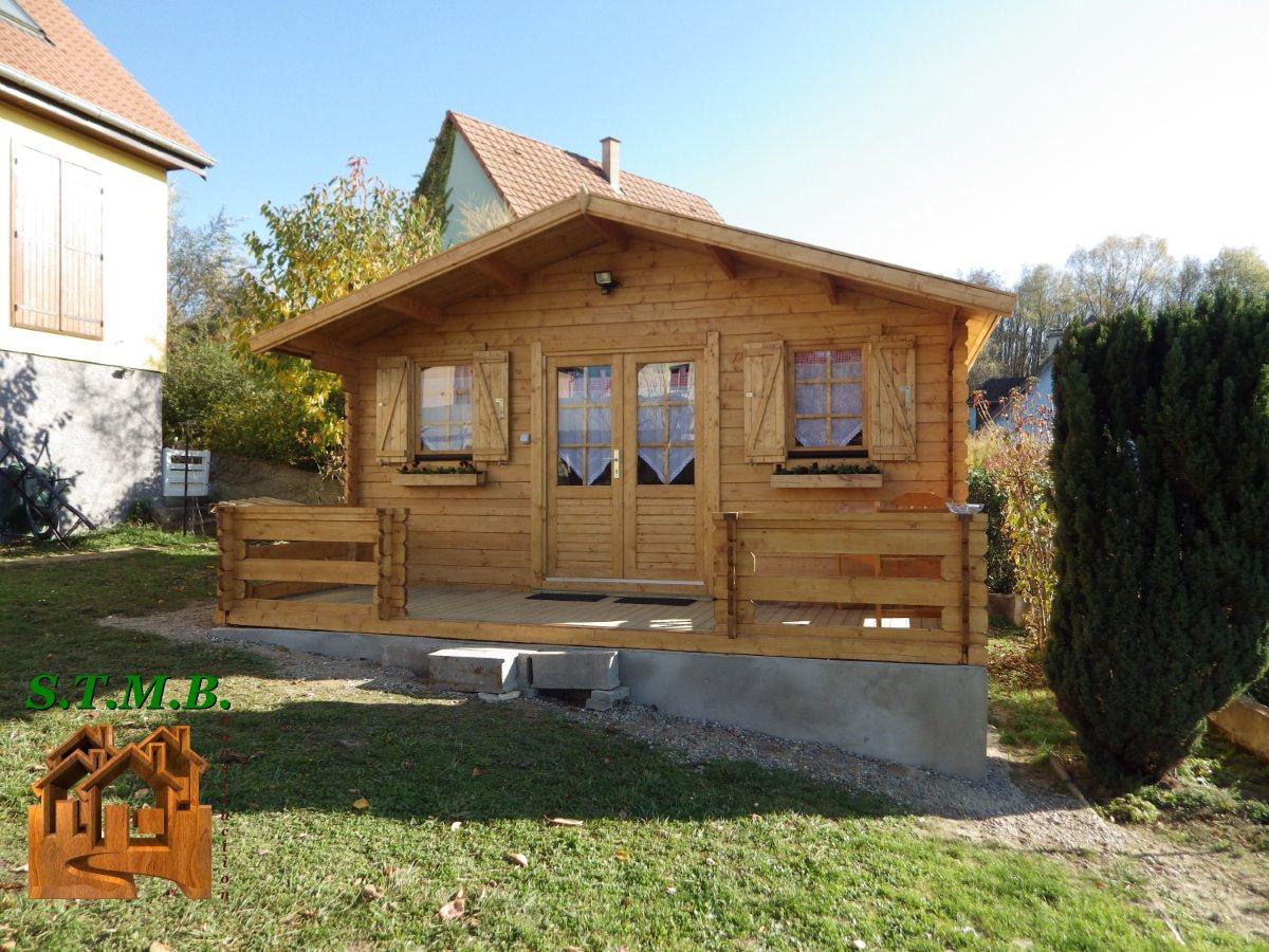 Kit Chalet De Jardin Bois Pavier 20 M² En Madriers De 34 Mm pour Abri De Jardin Habitable