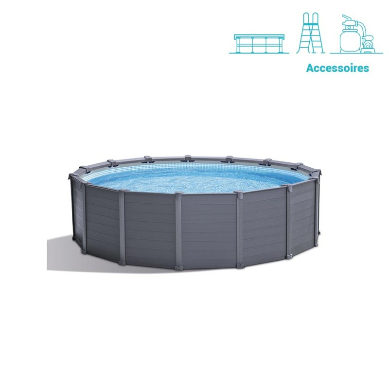 Kit Piscine Graphite Intex 4.17 X 1.09 M dedans Kit Habillage Piscine Intex