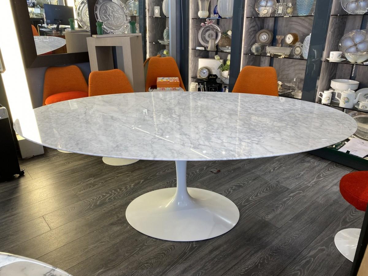 Knoll & Saarinen - Table Salle Manger Ovale Marbre à Table Salle A Manger En Marbre